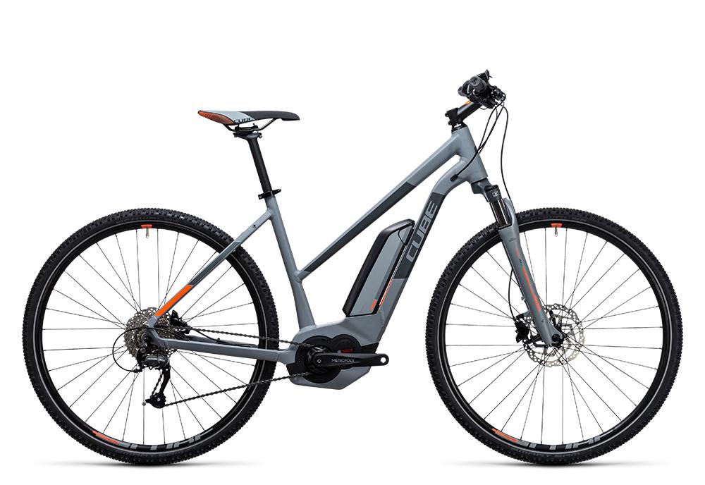 Cube Cross Hybrid ONE 400 grey´n´orange 2017 Größe: Trapeze 46 cm - Bergmann Bike & Outdoor