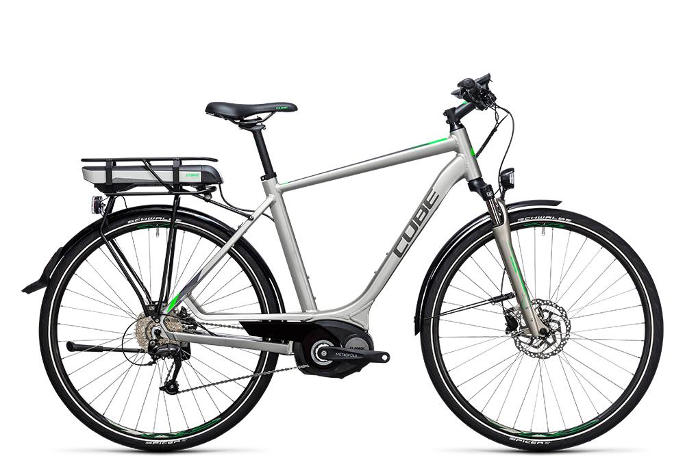 Cube Touring Hybrid ONE 400 silver´n´flashgreen 2017 Größe: 58 cm - Bergmann Bike & Outdoor