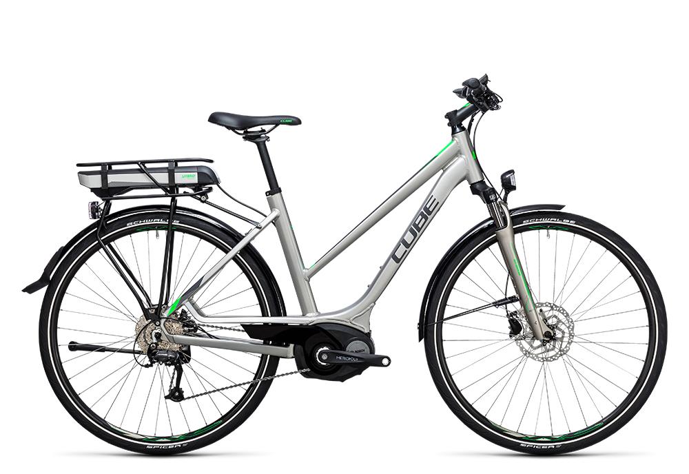 Cube Touring Hybrid ONE 400 silver´n´flashgreen 2017 Größe: Easy Entry 46 cm - Bergmann Bike & Outdoor