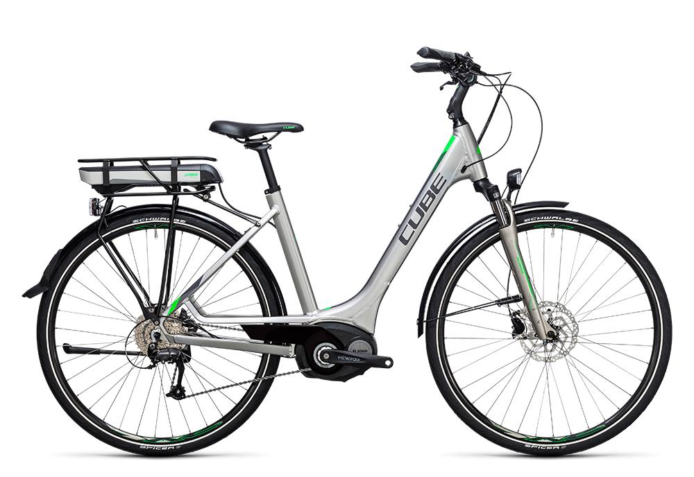 Cube Touring Hybrid ONE 400 silver´n´flashgreen 2017 Größe: Trapeze 46 cm - Bergmann Bike & Outdoor