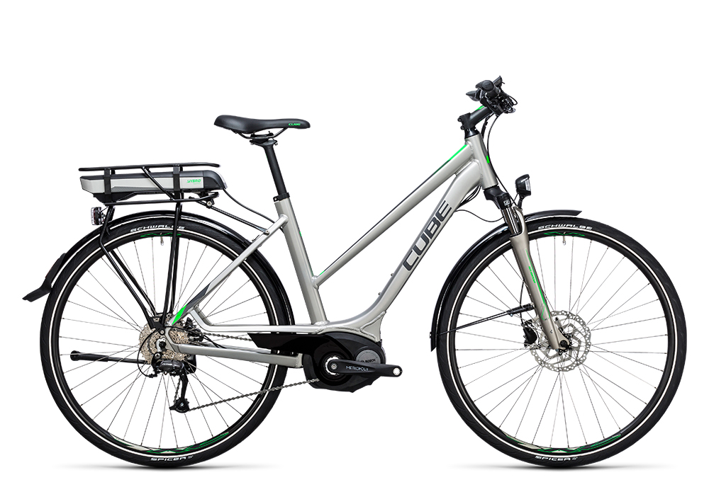 Cube Touring Hybrid ONE 500 silver´n´flashgreen 2017 Größe: Easy Entry 46 cm - Bergmann Bike & Outdoor