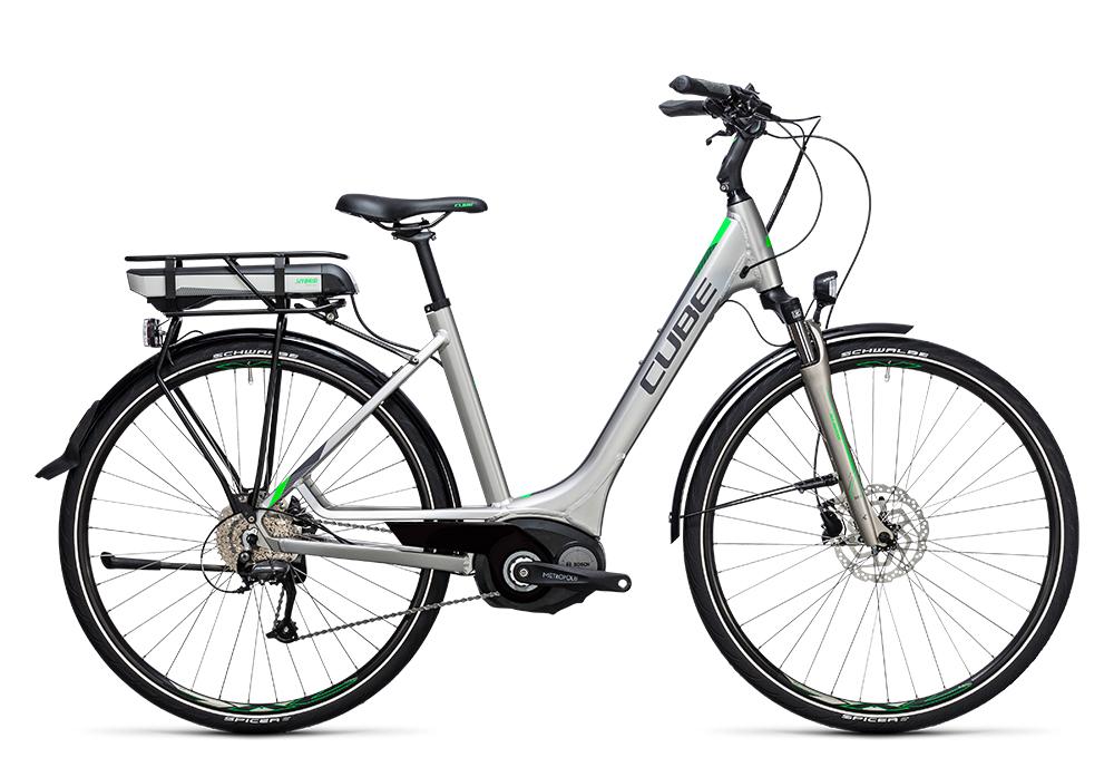 Cube Touring Hybrid ONE 500 silver´n´flashgreen 2017 Größe: Trapeze 46 cm - Bergmann Bike & Outdoor