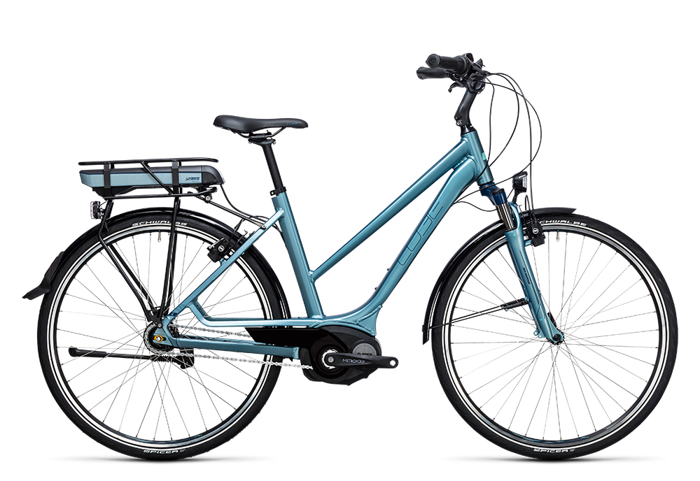 Cube Travel Hybrid ONE RT 400 bluegreen´n´blue 2017 Größe: Easy Entry 46 cm - Bergmann Bike & Outdoor