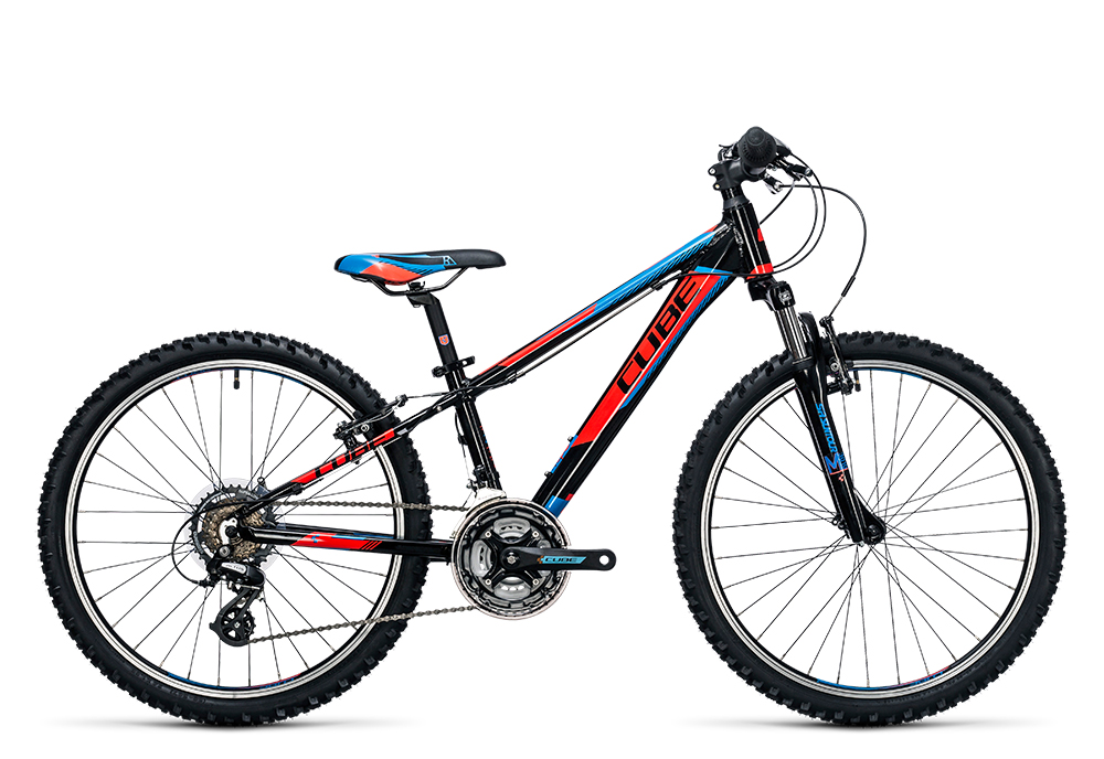 Cube Kid 240 black´n´flashred´n´blue 2017 Größe: 24´´ - Bergmann Bike & Outdoor