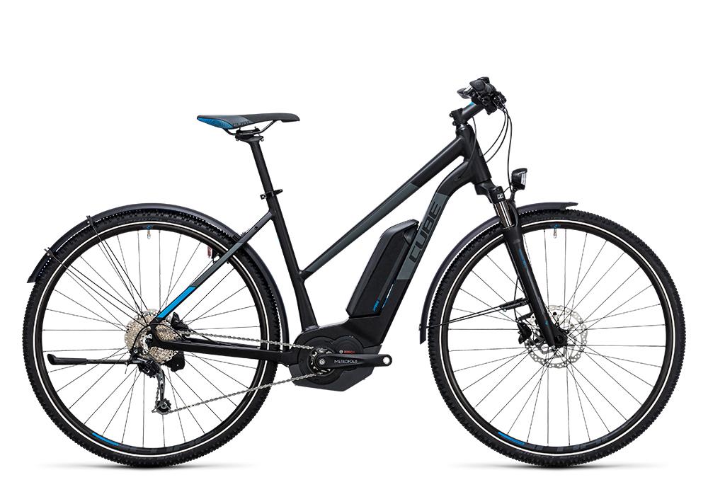 Cube Cross Hybrid Pro Allroad 400 black´n´blue 2017 Größe: Trapeze 46 cm - Bergmann Bike & Outdoor