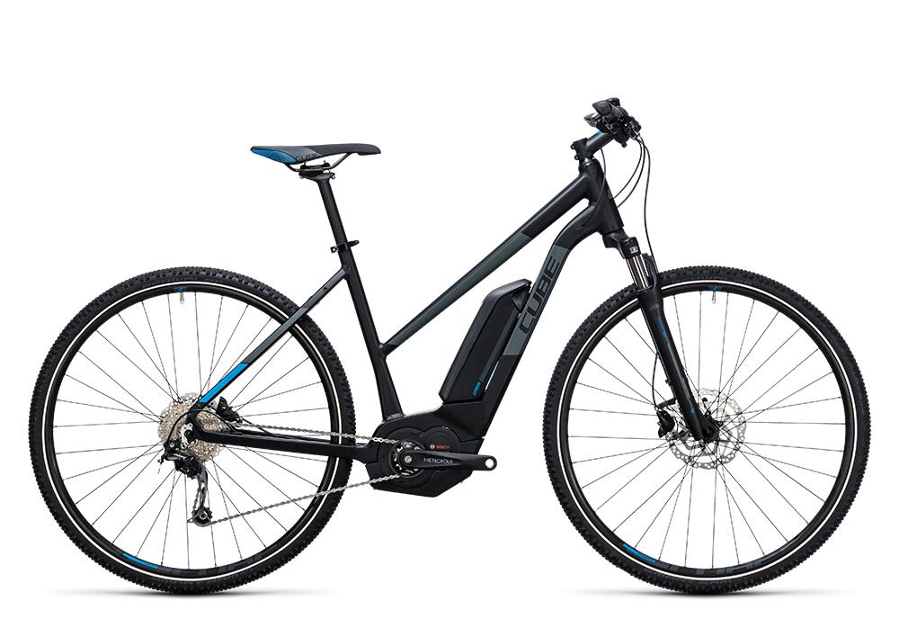Cube Cross Hybrid Pro 400 black´n´blue 2017 Größe: Trapeze 46 cm - Bergmann Bike & Outdoor