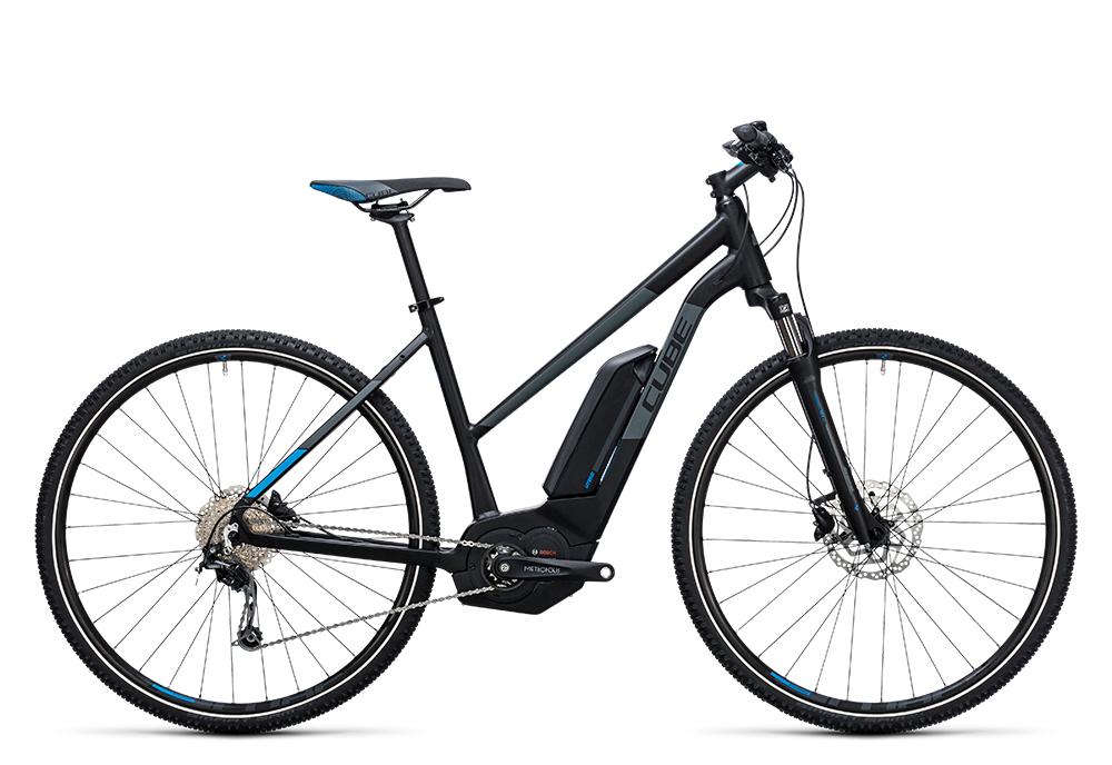 Cube Cross Hybrid Pro 500 black´n´blue 2017 Größe: Trapeze 46 cm - Bergmann Bike & Outdoor