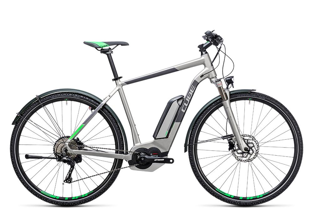 Cube Cross Hybrid Race Allroad 500 silver´n´green 2017 Größe: 50 cm - Bergmann Bike & Outdoor