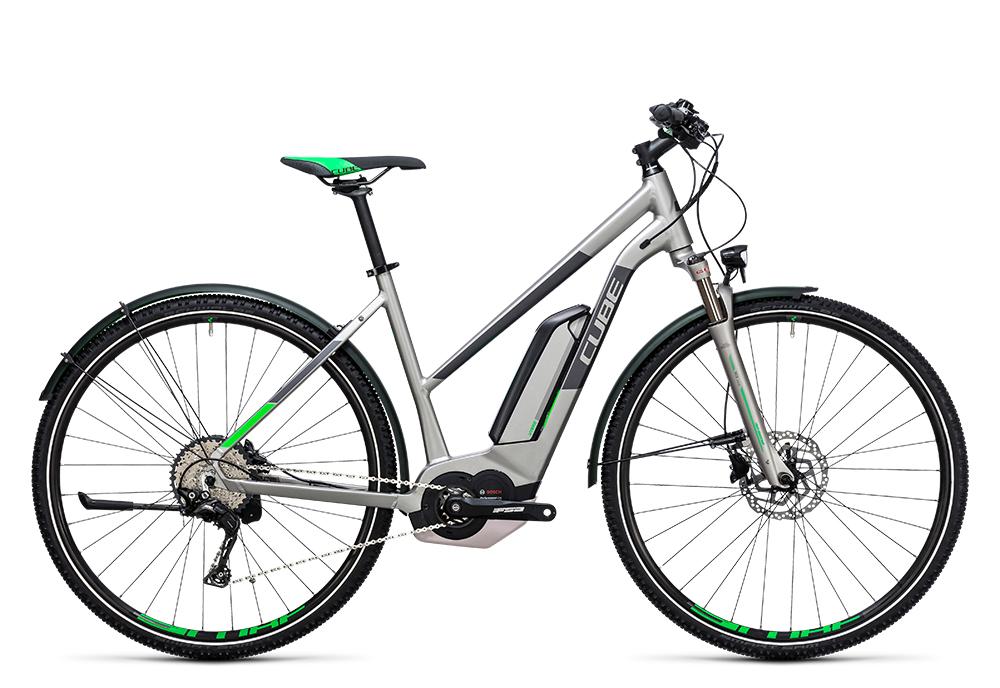 Cube Cross Hybrid Race Allroad 500 silver´n´green 2017 Größe: Trapeze 46 cm - Bergmann Bike & Outdoor