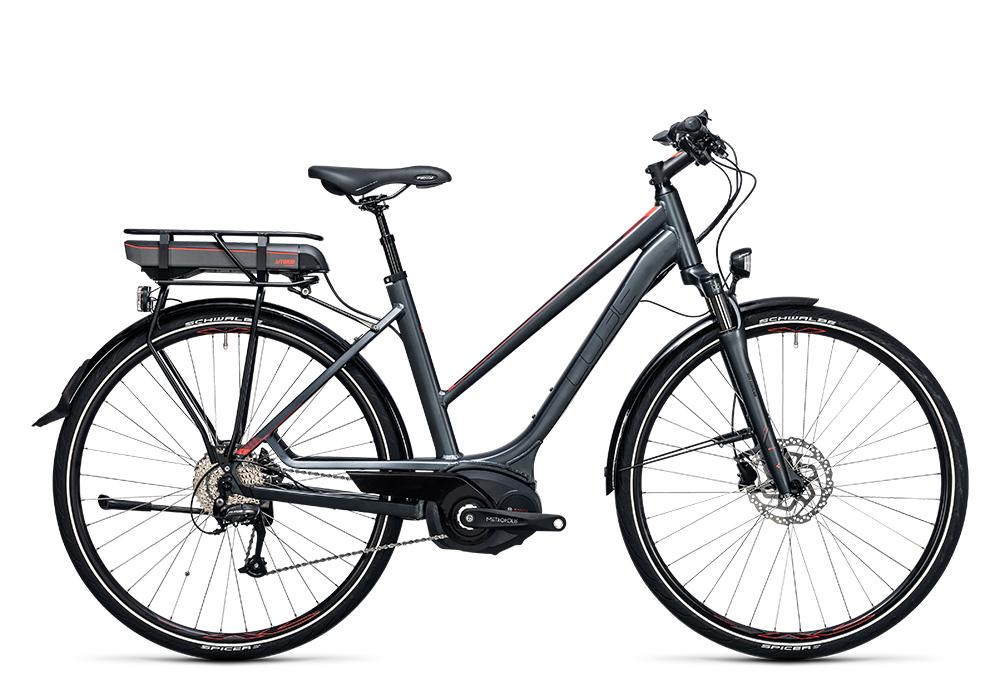 Cube Touring Hybrid 400 grey´n´flashred 2017 Größe: Easy Entry 46 cm - Bergmann Bike & Outdoor