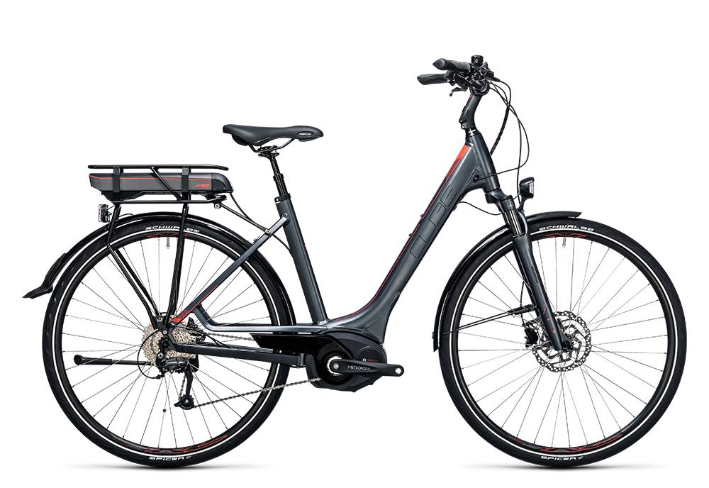 Cube Touring Hybrid 400 grey´n´flashred 2017 Größe: Trapeze 46 cm - Bergmann Bike & Outdoor