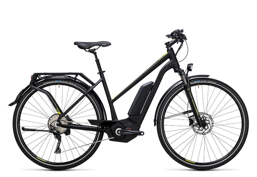 Cube Touring Hybrid Exc 400 black´n´lime 2017 Größe: Easy Entry 46 cm - Bergmann Bike & Outdoor