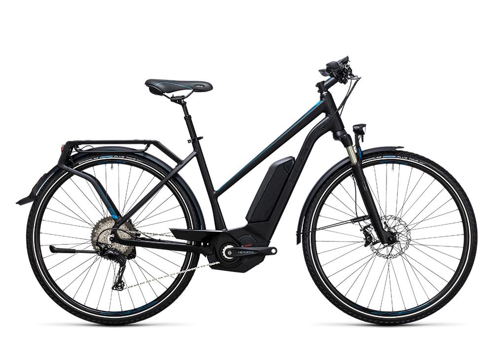 Cube Touring Hybrid SL 500 black´n´flashblue 2017 Größe: Easy Entry 46 cm - Bergmann Bike & Outdoor