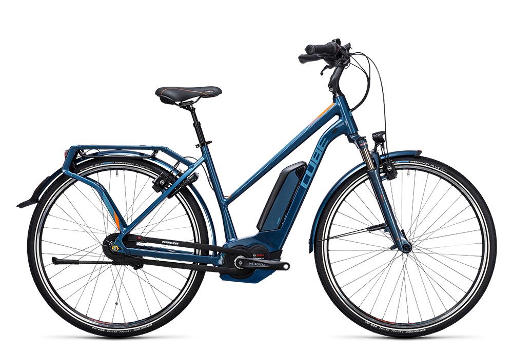 Cube Travel Hybrid Pro 400 smoky blue´n´flashorange 2017 Größe: Easy Entry 46 cm - Bergmann Bike & Outdoor