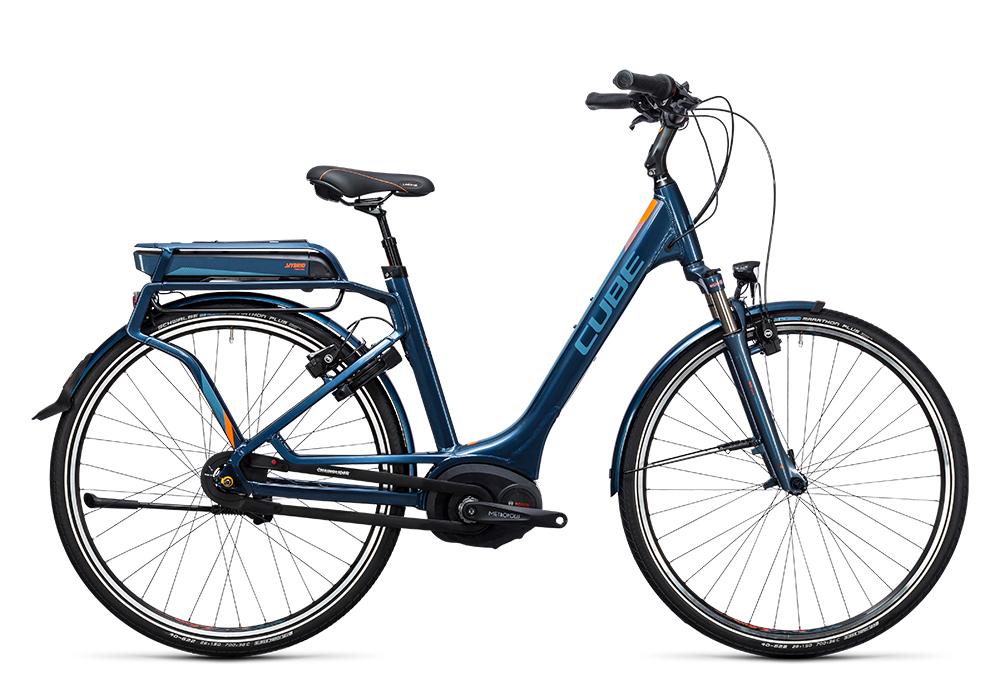 Cube Travel Hybrid Pro 400 smoky blue´n´flashorange 2017 Größe: Trapeze 46 cm - Bergmann Bike & Outdoor