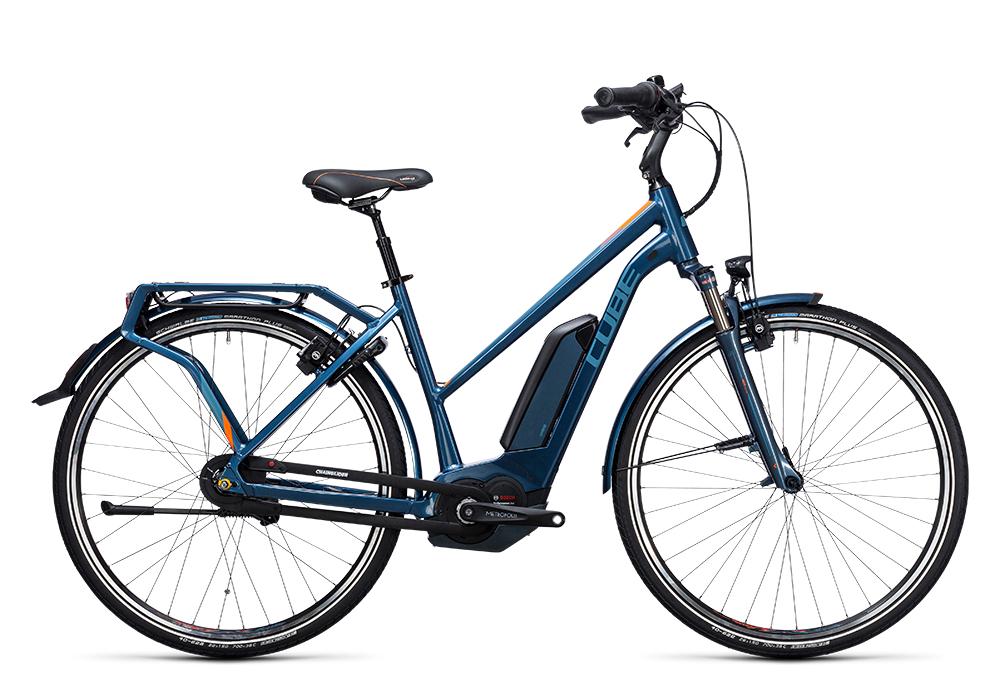 Cube Travel Hybrid Pro 500 smoky blue´n´flashorange 2017 Größe: Easy Entry 46 cm - Bergmann Bike & Outdoor