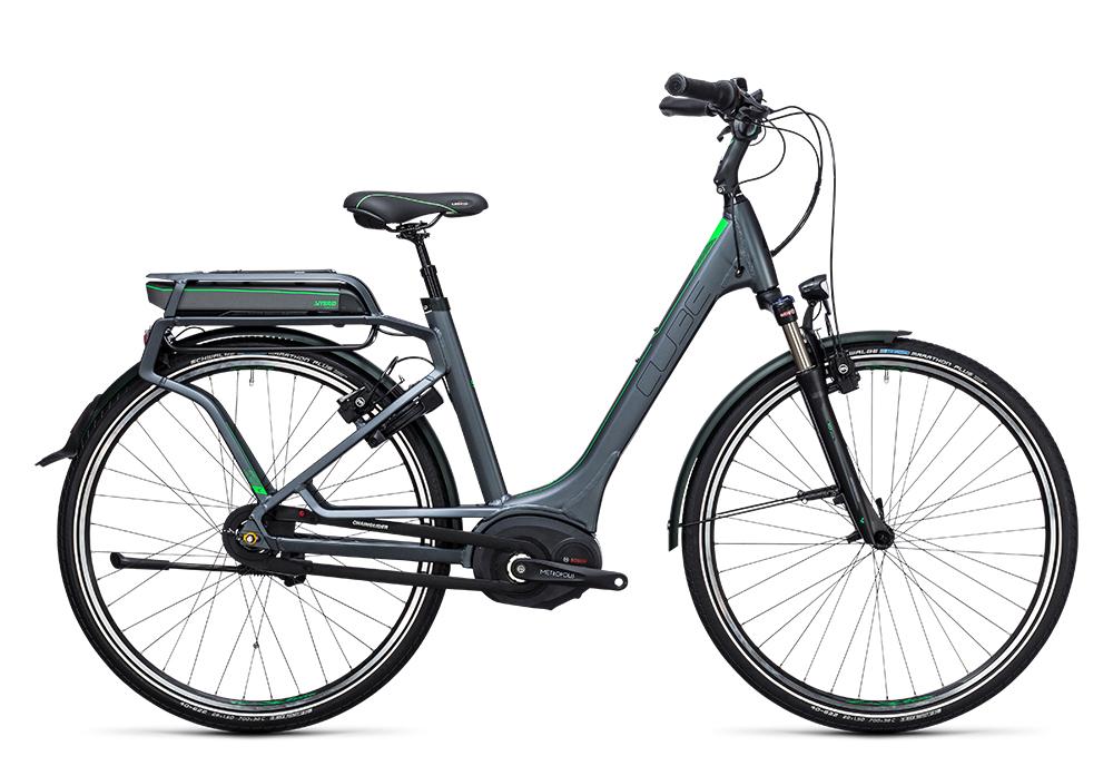 Cube Travel Hybrid Pro RT 400 grey´n´flashgreen 2017 Größe: Easy Entry 46 cm - Bergmann Bike & Outdoor