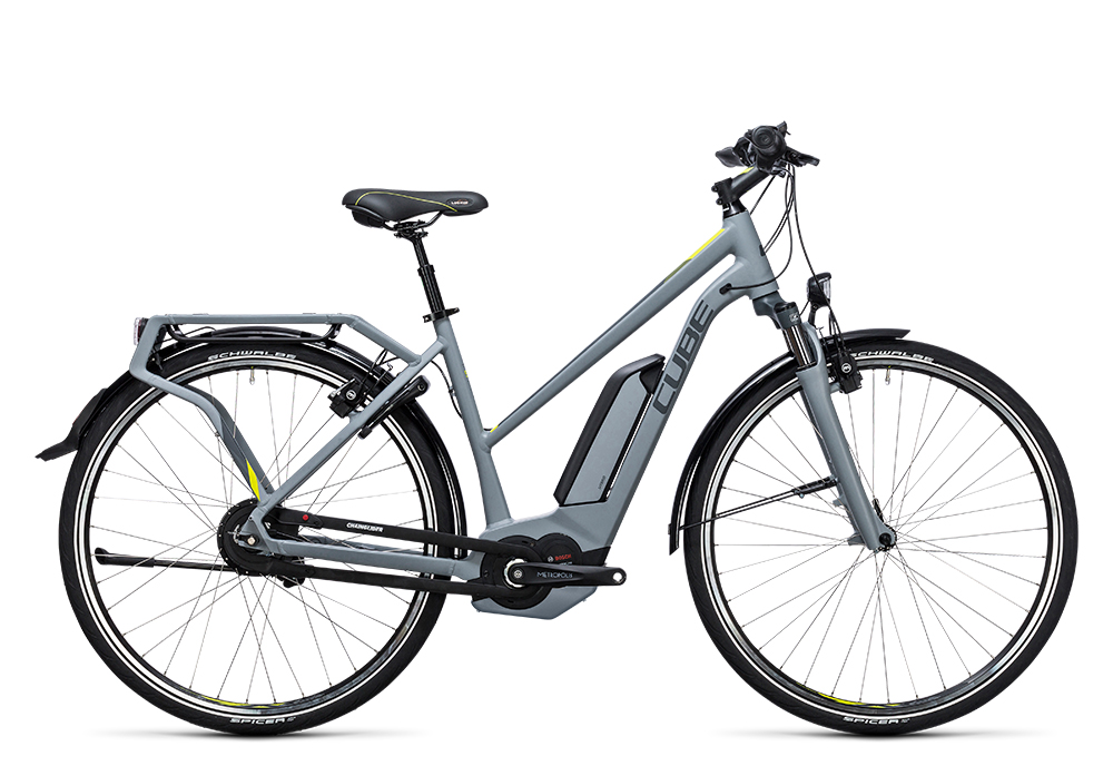 Cube Delhi Hybrid 400 grey´n´lime 2017 Größe: Easy Entry 46 cm - Bergmann Bike & Outdoor