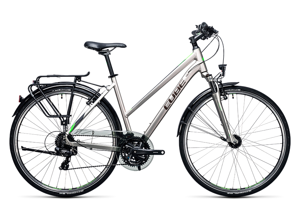 Cube Touring silver´n´flashgreen 2017 Größe: Easy Entry 46 cm - Bergmann Bike & Outdoor