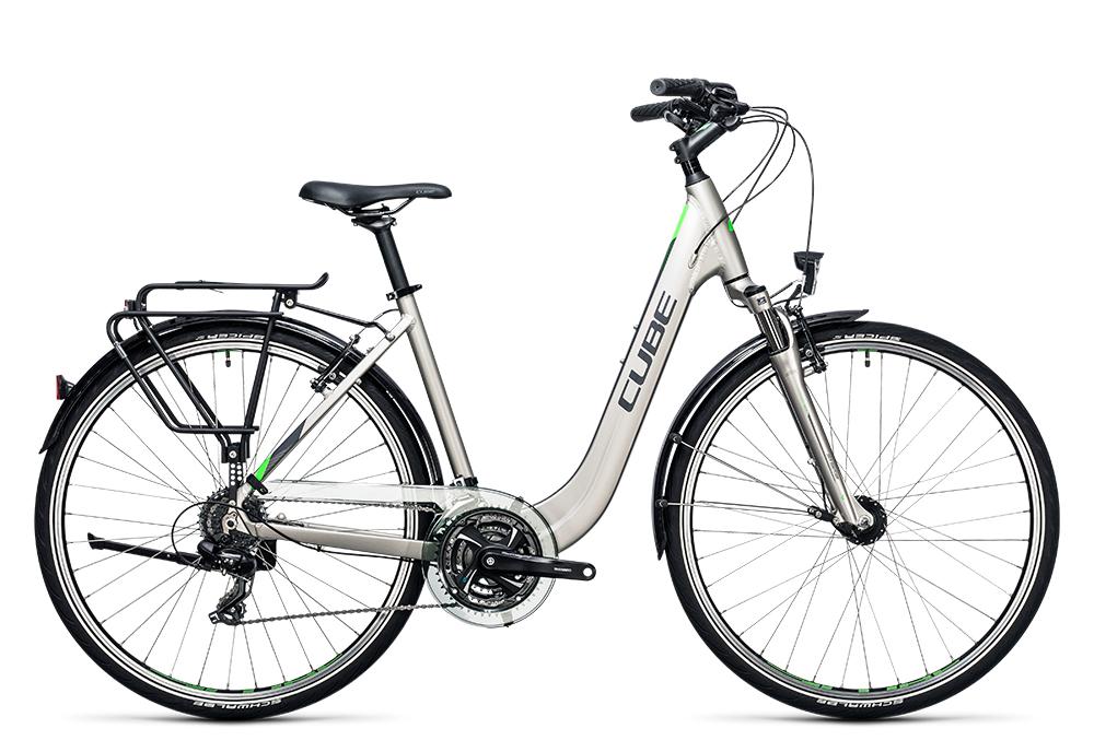 Cube Touring silver´n´flashgreen 2017 Größe: Trapeze 46 cm - Bergmann Bike & Outdoor