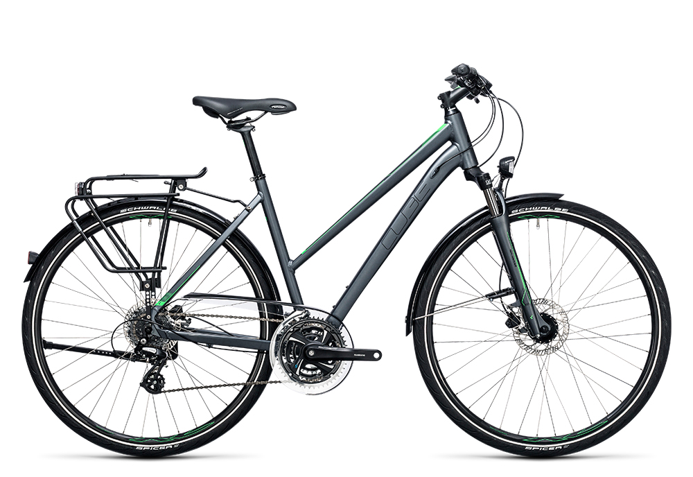 Cube Touring Pro grey´n´flashgreen 2017 Größe: Easy Entry 46 cm - Bergmann Bike & Outdoor