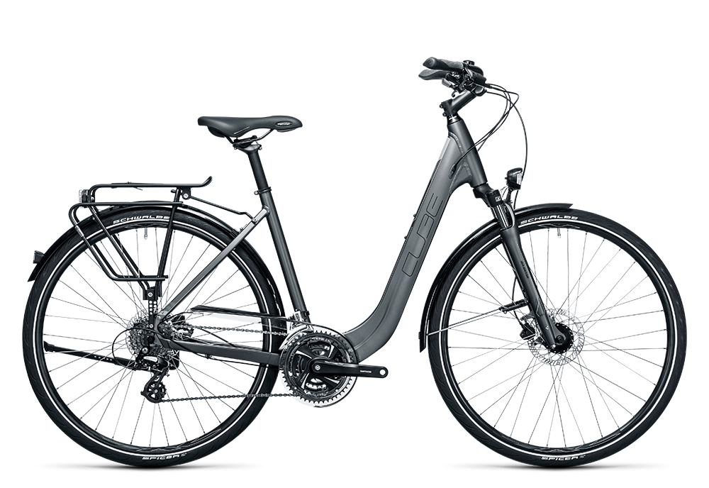 Cube Touring Pro grey´n´flashgreen 2017 Größe: Trapeze 46 cm - Bergmann Bike & Outdoor