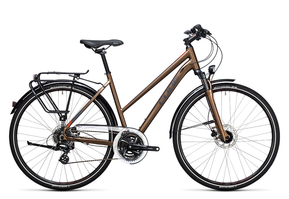 Cube Touring Pro havanna brown´n´orange 2017 Größe: Easy Entry 46 cm - Bergmann Bike & Outdoor