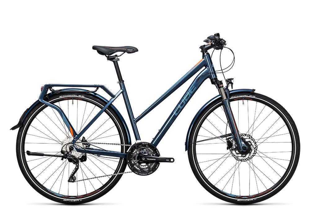 Cube Delhi Pro smoky blue´n´flashorange 2017 Größe: Trapeze 46 cm - Bergmann Bike & Outdoor