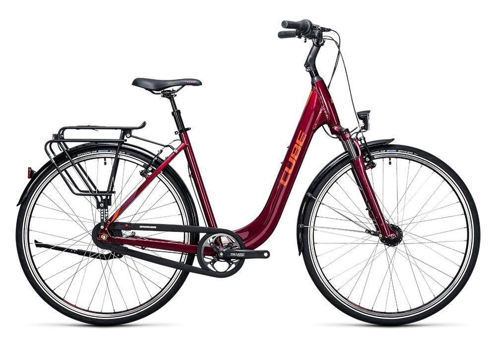 Cube Town Pro dark purple´n´burgundy 2017 Größe: Easy Entry 46 cm - Bergmann Bike & Outdoor