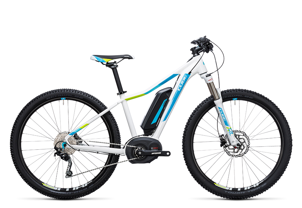 Cube Access WLS Hybrid Pro 400 white´n´blue 2017 Größe: 14´´ - Bergmann Bike & Outdoor