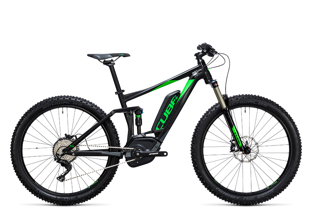 Cube Stereo Hybrid 120 HPA Race 500 27.5+ black´n´green 2017 Größe: 16´´ - Bergmann Bike & Outdoor