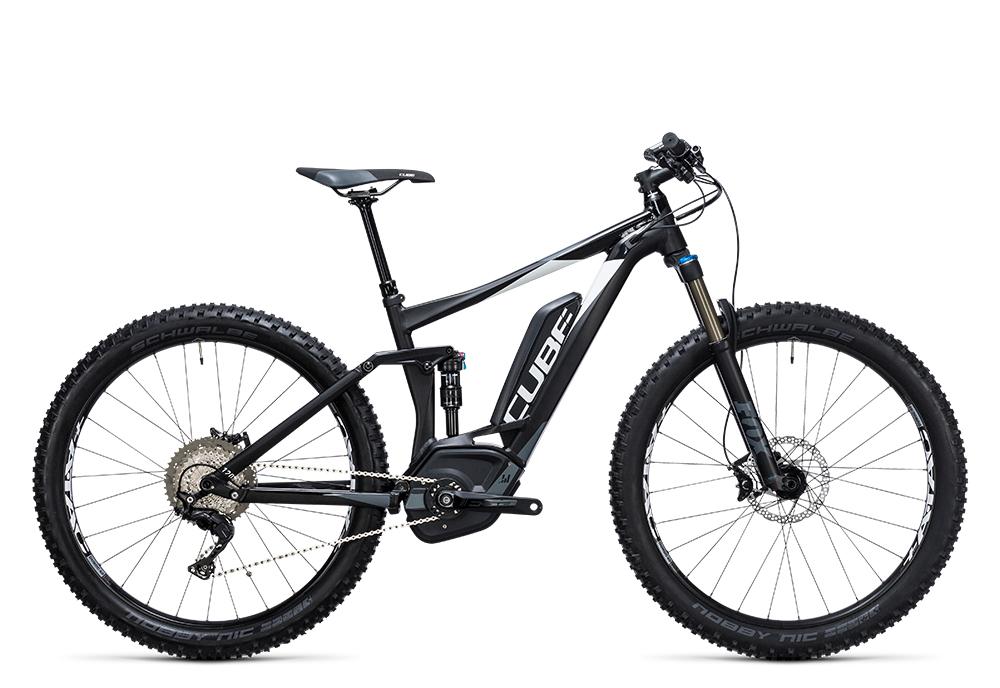 Cube Stereo Hybrid 120 HPA SL 500 27.5+ black´n´white 2017 Größe: 16´´ - Bergmann Bike & Outdoor