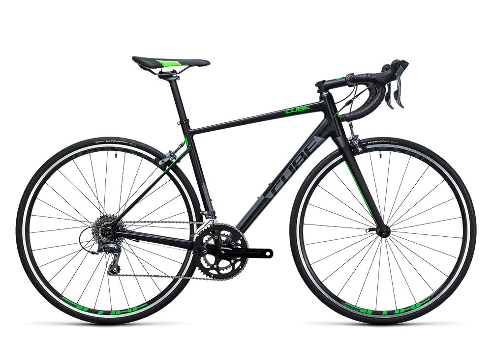 Cube Attain black´n´green 2017 Größe: 47 cm - Bergmann Bike & Outdoor