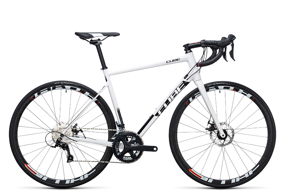 Cube Attain Pro Disc white´n´black 2017 Größe: 47 cm - Bergmann Bike & Outdoor