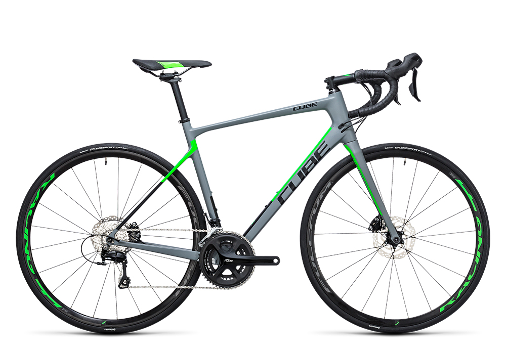 Cube Attain GTC Pro Disc grey´n´flashgreen 2017 Größe: 50 cm - Bergmann Bike & Outdoor